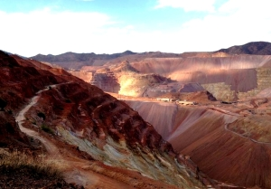 The open pit mine at Morenci, AZ.